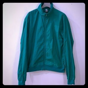 American Apparel green windbreaker